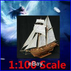 1100 Scale DIY Ship Assembly Model Kits Wooden Sailing Boat Decoration Gift Toy