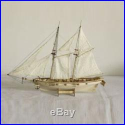 1120 Scale Wooden Wood Sailboat Ship Kits Home DIY Model Boat Gift Toy For Kids