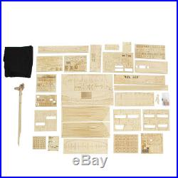 1 96 Scale 3D Assembly Wooden Sailboat Ship Kit Home Model Boat DIY Gift Decor