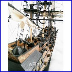 1 96 Scale 3D Wooden Black Pearl Sailboat Ship Kit Boat Model Home Decor Gift