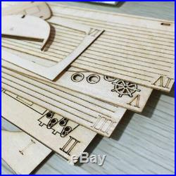 20X(Ship Assembly Model Diy Kits Wooden Sailing Boat 150 Scale Decoration 1Q4)