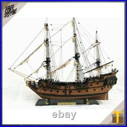 32 Inch Diy Wooden Pirate Ship Model Handmade Assembly Boat Building Kits Diy