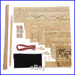 32 Scale Wooden Sailing Boat Model Kit Ship Handmade Assembly Decoration