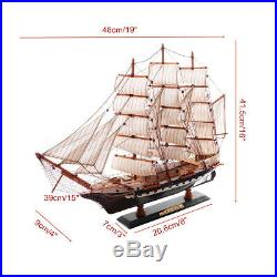 65cm Wooden Sailboat Model Sailing Ship Display Scale Boat Decoration Gift Kits
