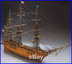 Beautiful, brand new wooden model ship kit by Mantua the USS Constitution