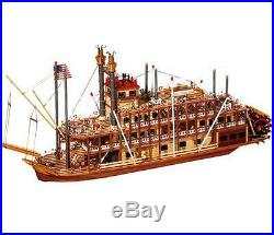 Beautiful, brand new wooden model ship kit by OcCre the Mississippi