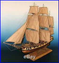Beautiful, sophisticated wooden model ship kit by Soclaine Le Tonnant