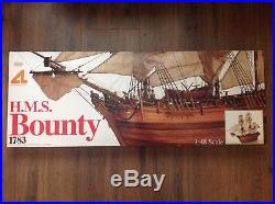 Boxed HMS Bounty 148 Scale Wooden Model Ship Building Kit By Artesania Latina