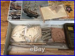 C Mamoli USS Constitution Old Ironsides 193 Wooden Boat Ship Model Kit Complete