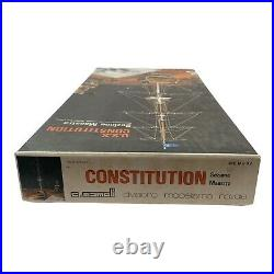 C. Mamoli U. S. S. Constitution Cross-Section Model Ship Kit Scale 193 Italy