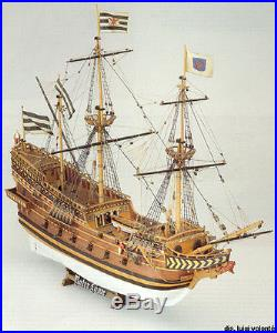 Classic, Detailed Wooden Model Ship Kit by Mamoli the Roter Lowe