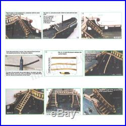 Classic The black Pearl Model Ship Wooden Boat DIY Kits Collection Exhibit Gifts