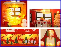 DIY Miniature Wooden Dollhouse Christmas Ship Model Kits Handcrafted Toy Gift