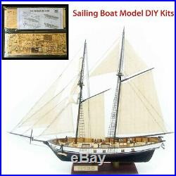 DIY Sailing Boat Model Ship Assembly Classical Wooden Decoration Wood Kits Gift