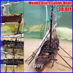 DIY Ship Assembly Model Classical Wooden Sailing Boat 132 Scale Wood Kits Gift