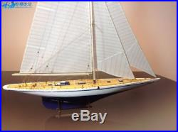 Endeavour America's Cup J Class Yacht Wood Model Ship Kit 18 Boat Sailboat
