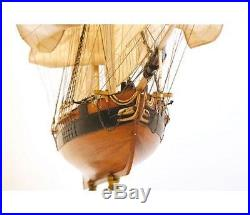 Generously detailed, brand new Occre wooden model ship kit the Dos Amigos