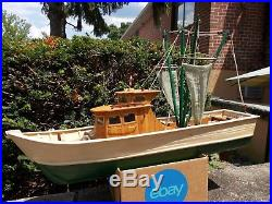 Hand Built Wood Fishing Trawler, Not A Kit, 28+, Amazing 1000+ Hour Build