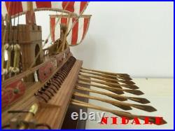 High Classic wooden Sail boat model kit Scale 1/50 ancient Rome ship model