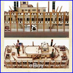 Mississippi Steamboat 3D Paper Boat Model Kits Toy Wooden Ship Assembly Kit