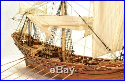Misticque 1750 model ship wood boat kit DIY for adults best gift NEW