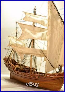 PRO Misticque French Xebec 1750 wood model ship kits boat DIY for adults new