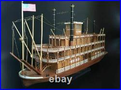 Scale 1/100 USS MISSISSIPPI 1870 540mm 21 steamboat wood ship model kit