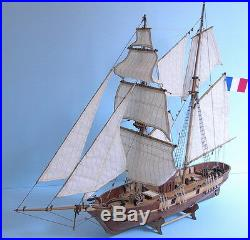 Scale 1/55 France Classic ship model kits Le Hussard 1848 sail boat wooden model