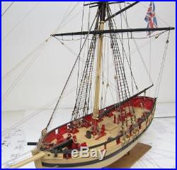 Syren Ship Model's wood model kit of 1806 English Revenue Cutter Cheerful