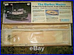 The Harbor Master R/c Wood Model Boat/ship Kit Midwest Steam Or Electric
