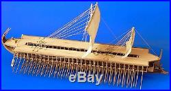 Traditional, Detailed Wooden Model Ship Kit by Dusek the Greek Trireme