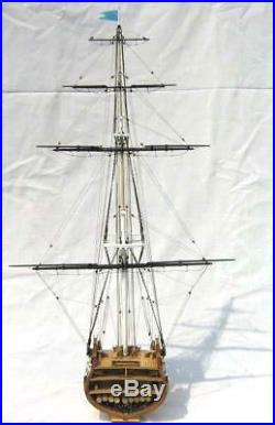 USS Constitution Scale 1/75 Cross Section Wooden Model Ship Model Kit Free Ship