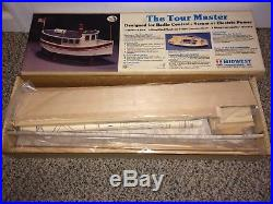Vintage 1986 The Tour Master Boat Ship Midwest Wood R/C Electric Model Kit