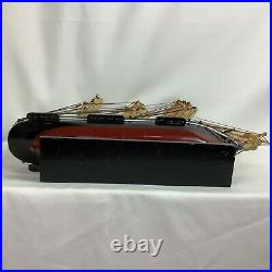 Vintage Cuty Sark Assembled Model Nautical Ship 20 L x 16 H x 18 Wooden Base
