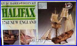 Wooden Ship Model Kit Halifax 1768 New England Complete
